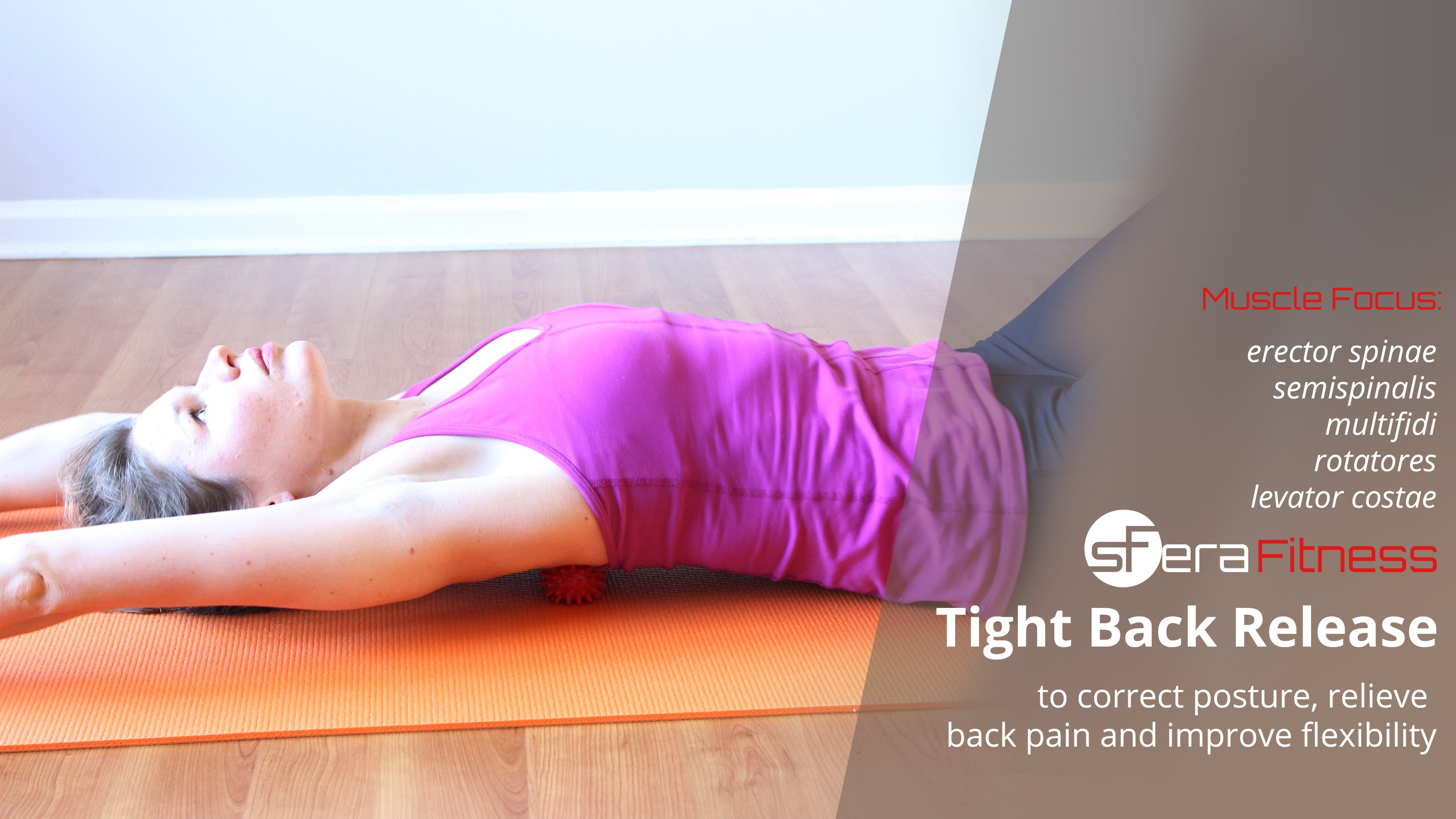Tight Back Release and Stretch to Relieve Back Pain and Improve Posture